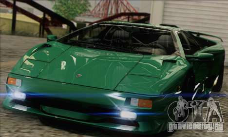 Lamborghini Diablo SV 1997 для GTA San Andreas вид сзади слева