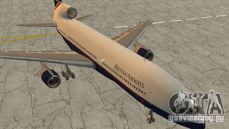Lockheed L1011 Tristar British Airways для GTA San Andreas вид сзади слева