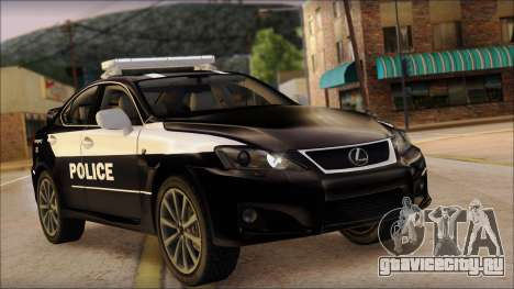 Lexus IS-F 2009 Police для GTA San Andreas