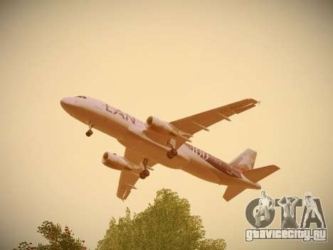 Airbus A320-214 LAN Airlines 100th Plane для GTA San Andreas салон