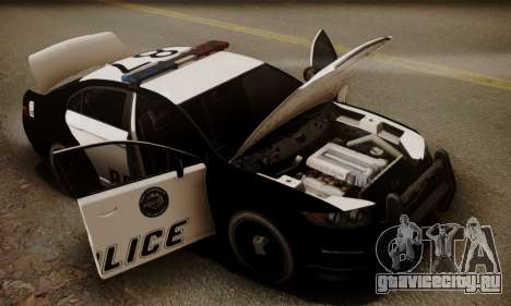 Vapid Police Interceptor from GTA V для GTA San Andreas салон