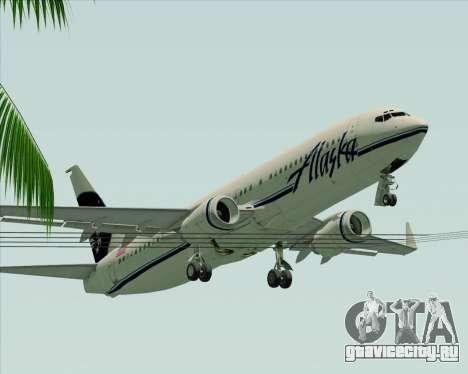 Boeing 737-890 Alaska Airlines для GTA San Andreas вид снизу