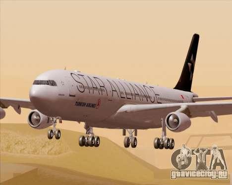 Airbus A340-311 Turkish Airlines (Star Alliance) для GTA San Andreas