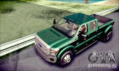 Ford F450 Super Duty 2013 HD для GTA San Andreas вид сбоку