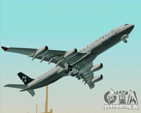 Airbus A340-311 Turkish Airlines (Star Alliance) для GTA San Andreas вид сверху