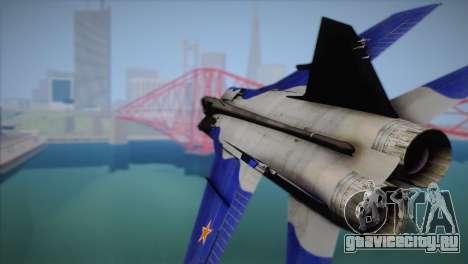 MIG-31 from H.A.W.X. для GTA San Andreas вид справа