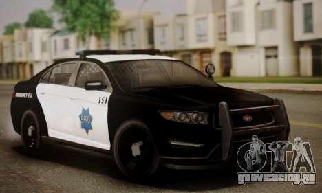 Vapid Police Interceptor from GTA V для GTA San Andreas вид снизу