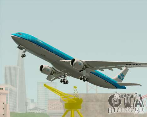 Airbus A330-300 KLM Royal Dutch Airlines для GTA San Andreas вид сбоку