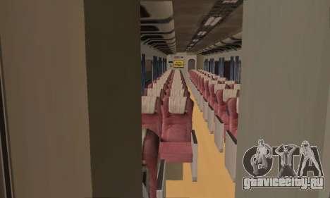 K1 Argo Traincar индонезийский для GTA San Andreas вид сзади