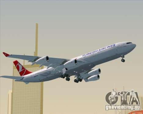 Airbus A340-313 Turkish Airlines для GTA San Andreas вид сверху