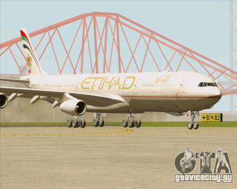 Airbus A340-313 Etihad Airways для GTA San Andreas вид слева