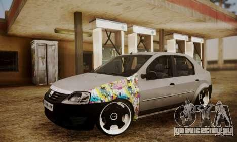 Dacia Logan Sedan Tuned для GTA San Andreas