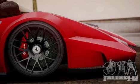 Ferrari Gemballa MIG-U1 для GTA San Andreas вид сзади слева