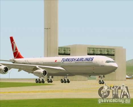 Airbus A340-313 Turkish Airlines для GTA San Andreas вид слева