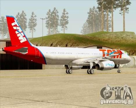 Airbus A321-200 TAM Airlines для GTA San Andreas вид справа