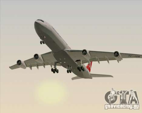 Airbus A340-313 Turkish Airlines для GTA San Andreas вид сбоку