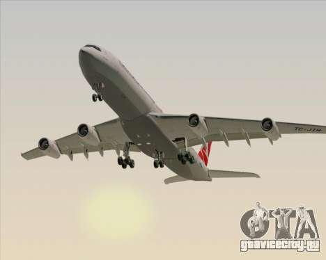Airbus A340-313 Turkish Airlines для GTA San Andreas вид сбоку