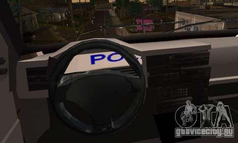 Volkswagen Caravelle Politia для GTA San Andreas вид сзади слева
