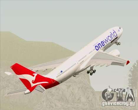 Airbus A330-200 Qantas Oneworld Livery для GTA San Andreas колёса