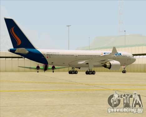 Airbus A330-200 Syphax Airlines для GTA San Andreas вид сзади