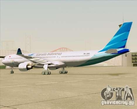 Airbus A330-300 Garuda Indonesia для GTA San Andreas вид сзади