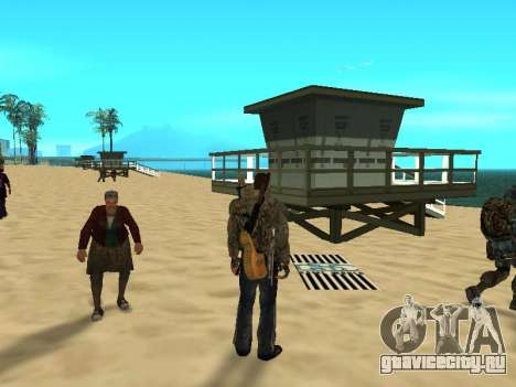Новые коврики на пляже для GTA San Andreas третий скриншот