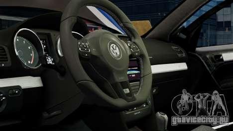 Volkswagen Golf R 2010 Polo WRC Style PJ1 для GTA 4 вид изнутри