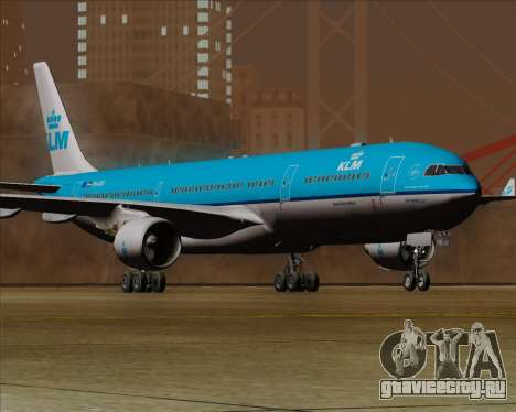 Airbus A330-300 KLM Royal Dutch Airlines для GTA San Andreas вид сзади слева