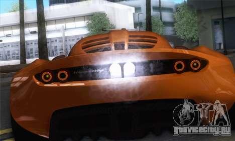 Hennessey Venom GT для GTA San Andreas вид справа