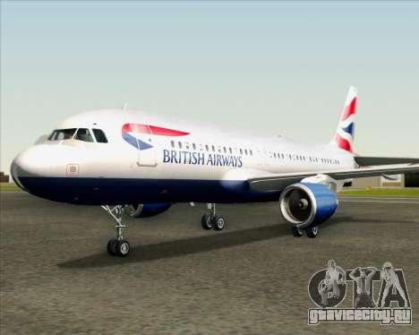 Airbus A320-232 British Airways для GTA San Andreas вид сверху
