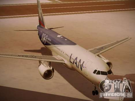 Airbus A320-214 LAN Airlines 100th Plane для GTA San Andreas вид слева