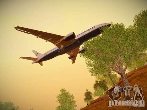Boeing 777-2Q8ER Orenair Airlines для GTA San Andreas вид сбоку