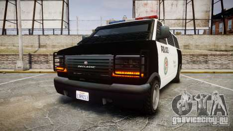Declasse Burrito Police Transporter LED [ELS] для GTA 4
