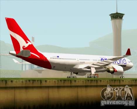 Airbus A330-200 Qantas Oneworld Livery для GTA San Andreas вид сверху