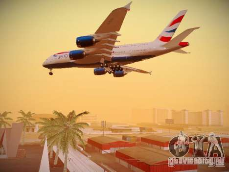 Airbus A380-800 British Airways для GTA San Andreas двигатель