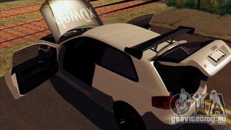 Audi S3 Tuned 2007 для GTA San Andreas вид сзади
