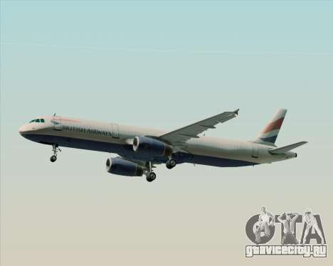 Airbus A321-200 British Airways для GTA San Andreas двигатель