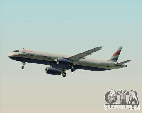 Airbus A321-200 British Airways для GTA San Andreas двигатель