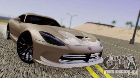 Dodge Viper SRT GTS 2013 Road version для GTA San Andreas