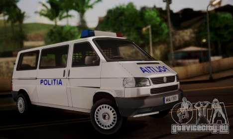 Volkswagen Caravelle Politia для GTA San Andreas