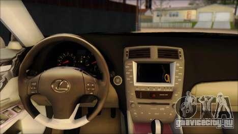 Lexus IS-F 2009 Police для GTA San Andreas вид сзади слева