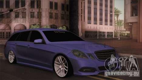 Mercedes-Benz W212 для GTA San Andreas вид сзади слева