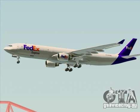 Airbus A330-300P2F Federal Express для GTA San Andreas вид сзади слева