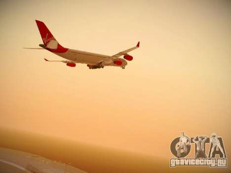 Airbus A340-300 Virgin Atlantic для GTA San Andreas вид изнутри