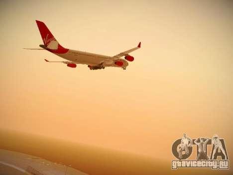 Airbus A340-300 Virgin Atlantic для GTA San Andreas вид изнутри