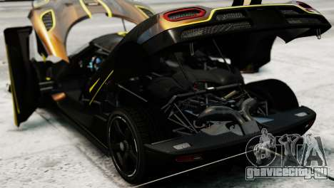 Koenigsegg Agera R 2013 PJ2 для GTA 4 вид сзади