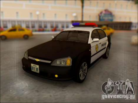 Chevrolet Evanda Police для GTA San Andreas