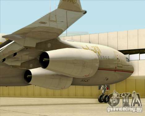 Airbus A340-313 Etihad Airways для GTA San Andreas вид сбоку