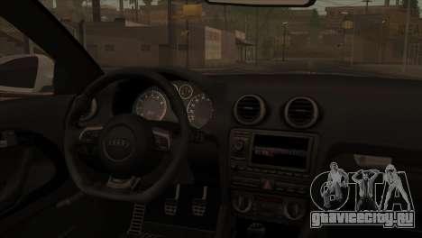 Audi S3 Tuned 2007 для GTA San Andreas вид сзади слева