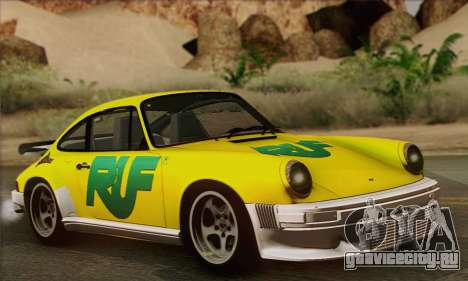 RUF CTR Yellowbird 1987 для GTA San Andreas салон